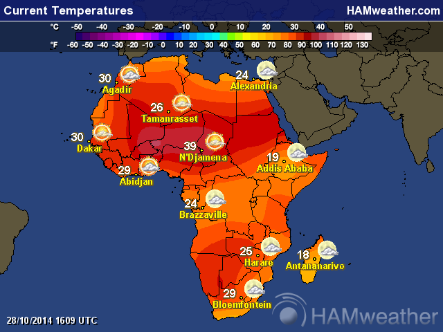 Weather maps of Africa
